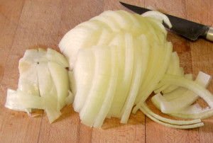Sliced onion - www.inhabitedkitchen.com