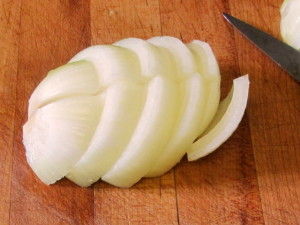 Slicing onion for pot roast - www.inhabitedkitchen.com