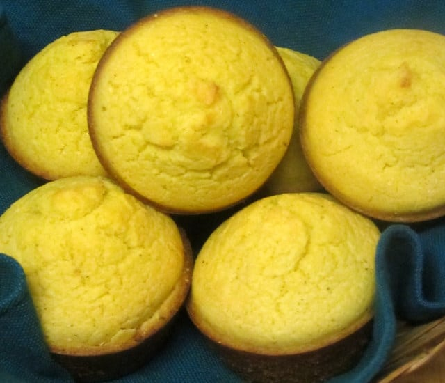 Gluten Free Corn Muffins made from a homemade mix - quick and easy, tender and delicious - www.inhabitedkitchen.com