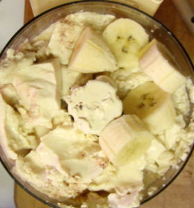 Silk tofu and banana, ready to blend into pudding - www.inhabitedkitchen.com