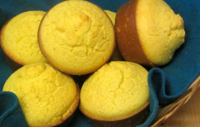 Gluten Free corn muffins from a homemade mix - www.inhabitedkitchen.com