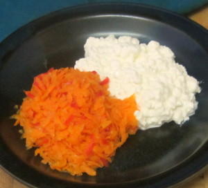 Carrot Ginger Salad with Cottage Cheese - www.inhabitedkitchen.com