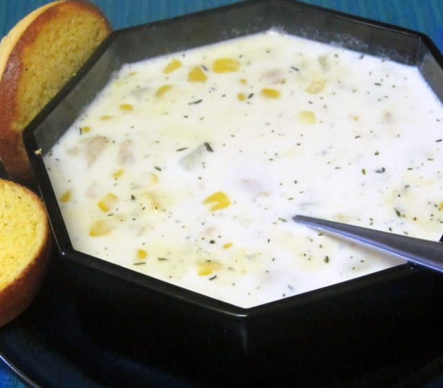 Clam Chowder with Corn - Inhabited Kitchen