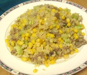 Dinner - pork, corn, broccoli, quinoa - www.inhabitedkitchen.com