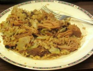 Dinner - pork and cabbage - www.inhabitedkitccchen.com