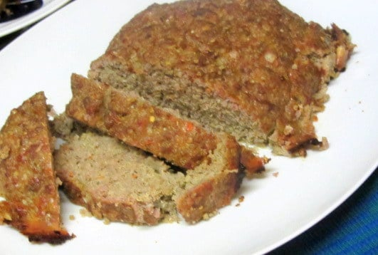Gluten Free Meatloaf made with Quinoa and Vegetables - www.inhabitedkitchen.com