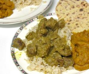 Dinner - ginger lamb curry - www.inhabitedkitchen.com