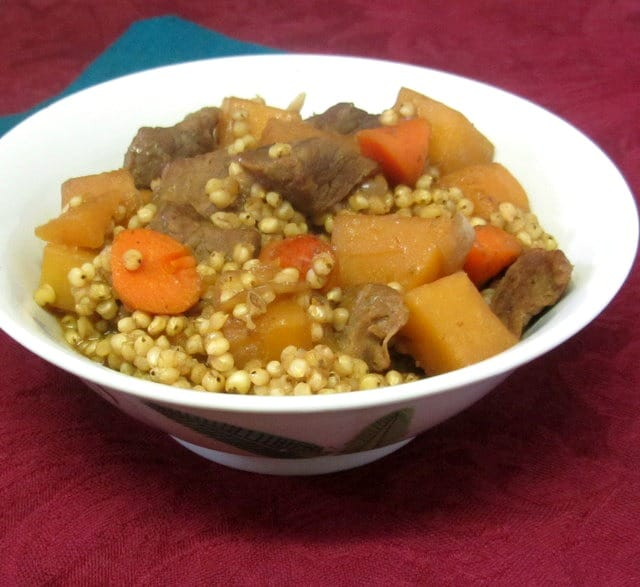 Use whole sorghum instead of barley to make a delicious beef stew - www.inhabitedkitchen.com