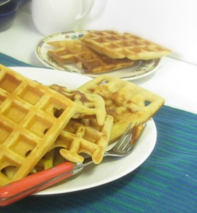 Gluten free waffles - crisp and golden - www.inhabitedkitchen.com