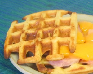 Use waffles instead of bread for a fun and delicious sandwich - www.inhabitedkitchen.com