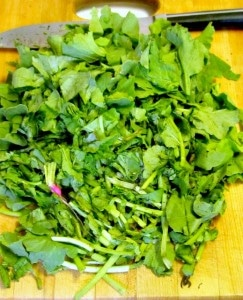 Keep and cook the greens from those radishes, for a bright accent vegetable - www.inhabitedkitchen.com