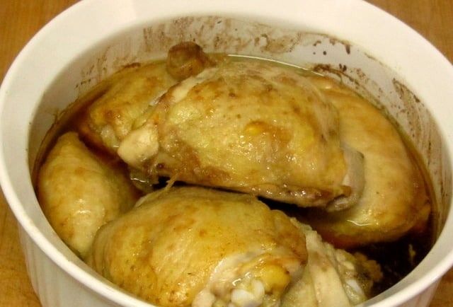 Five minutes of preparation, and this chicken is oven ready. www.inhabitedkitchen.com