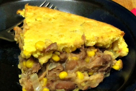 Use leftover meat, cooked beans, and a muffin recipe to create this hearty, savory meal. www.inhabitedkitchen.com