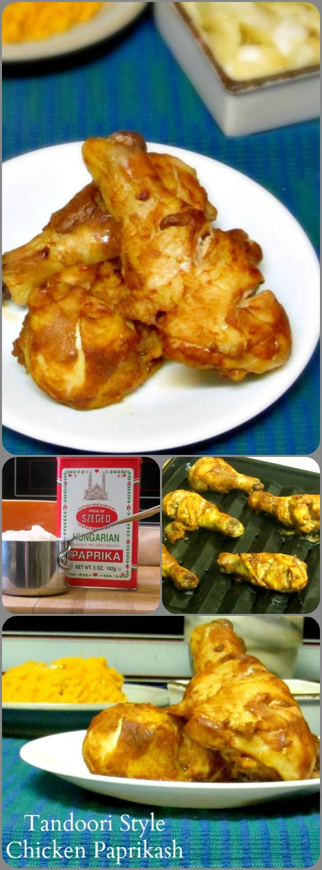 Use sweet Hungarian paprika, instead of Indian spices, in a yogurt marinade for drumsticks, then cook the meat as if you were making tandoori chicken.