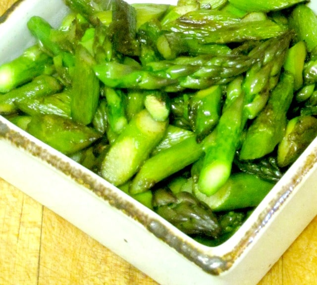 Saute asparagus, instead of steaming it, for an intense, sweet flavor - www.inhabitedkitchen.com
