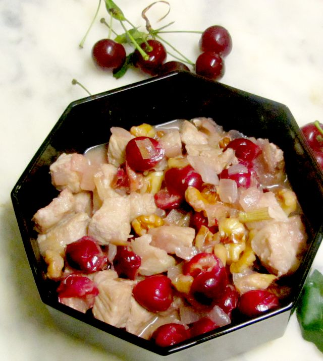 Set off the rich flavor of pork and walnuts with the delightfully tart taste of sour cherries, for a quick and easy - but interesting - meal. www.inhabitedkitchen.com