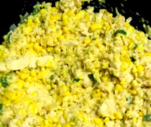 Celebrate August by featuring sweet corn with chicken in a creamy sauce! www.inhabitedkitchen.com