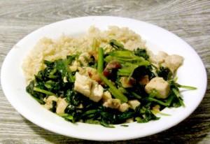 WIAW - Sauteed chicken and spinach www.inhabitedkitchen.com