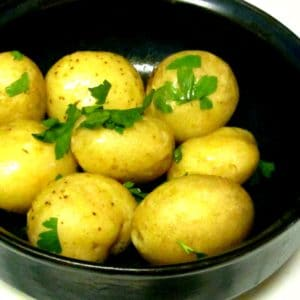 Syracuse Salt Potatoes - born as a laborer's quick lunch, become a Central New York fair ground classic. Creamy, moist, and delicious! www.inhabitedkitchen.com