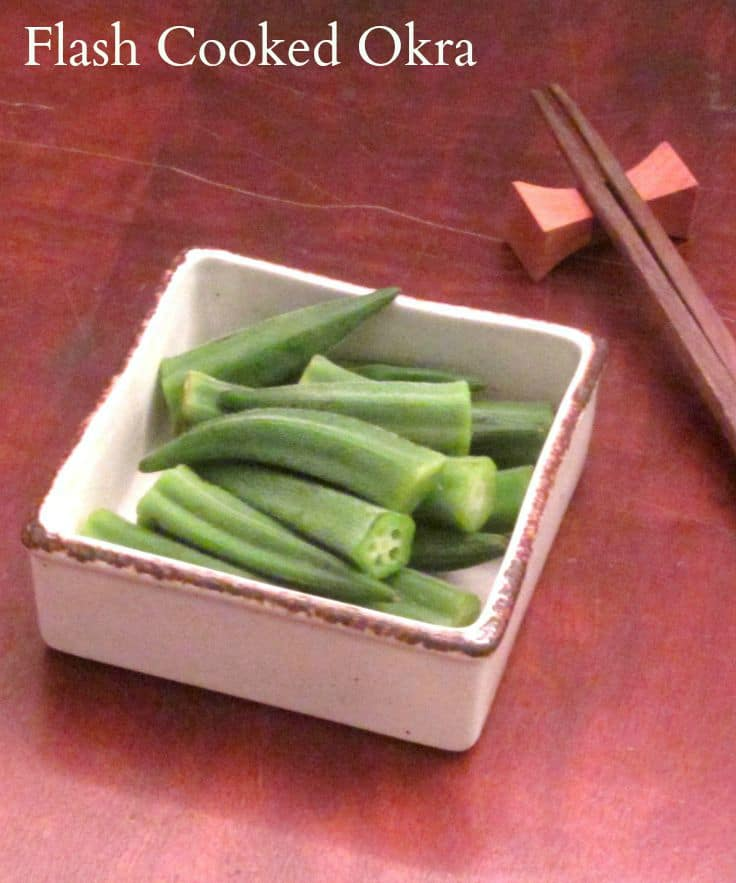 Quickly cook tender, delicious okra whole so that it isn't slimy!