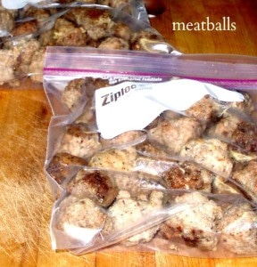 Planning for Meals - Frozen Meatballs