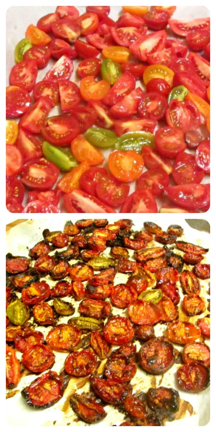 Roast tomatoes to concentrate the flavor, then freeze to preserve that flavor!