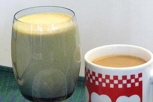 WIAW 85 - Days like this! Pumpkin Pie Protein Shake & Coffee - Inhabited Kitchen