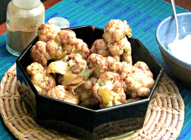 Masala cauliflower - a quick and easy way to make a spiced cauliflower, to be the centerpiece of a simple weeknight meal.