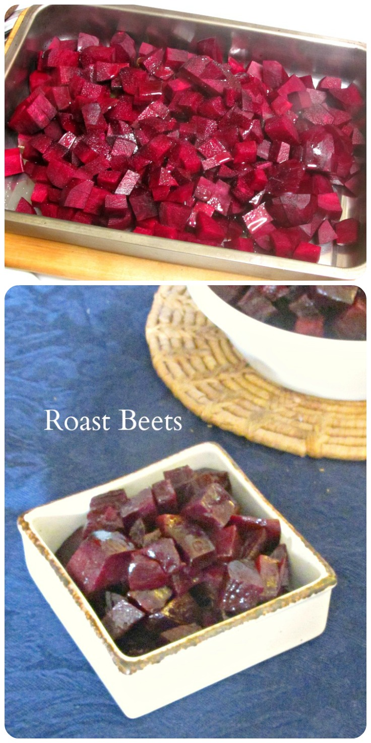 Oven roasted beets - simple, uncomplicated, and delicious! Serve hot as a vegetable side dish, or cold as a winter salad.
