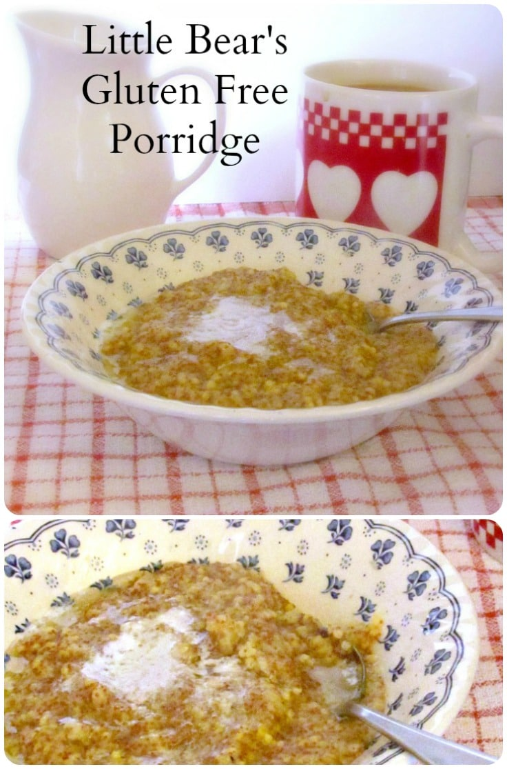Little Bear's Gluten Free Porridge - a gluten free hot cereal, without oats, nether dry nor bland, but creamy, flavorful, and just right.