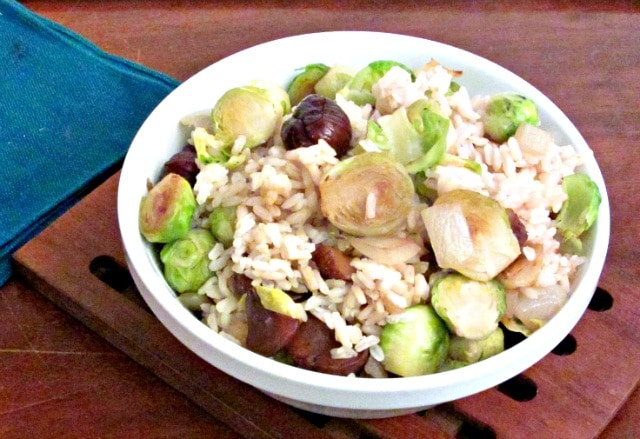 Brussels Sprout Chestnut Rice