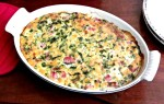 Use leftover ham to make a casserole with corn and spinach. Colorful, plenty of flavor, and a bit of a change.
