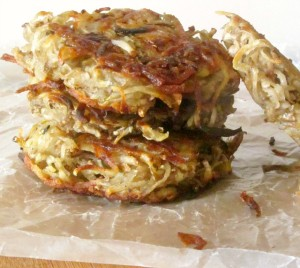 Potato pancakes - or latkes - are traditional for both Hanukkah and Christmas for people from Eastern European cultures - and they are delicious!