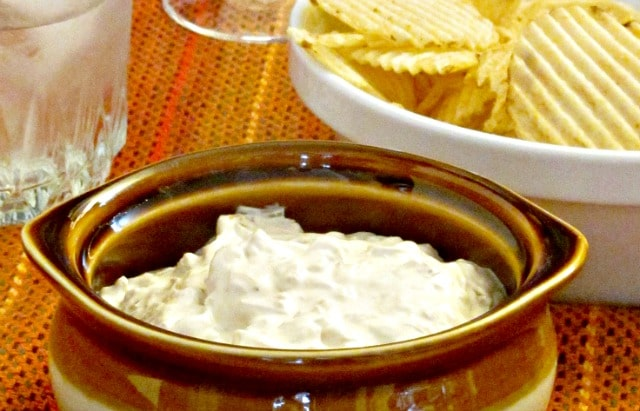An updated, natural version of the onion dip we all grew up with - sweetly and intensely onion.