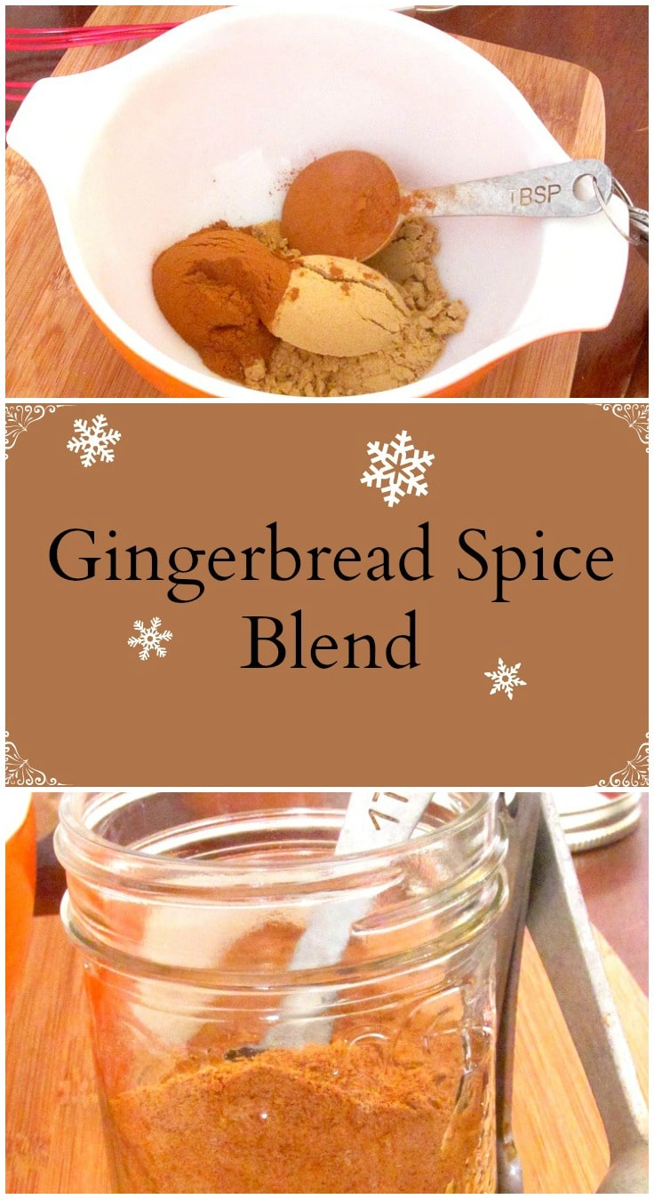 A simple spice blend to make at home, and then use in all kinds of recipes for that quick gingerbread flavor.