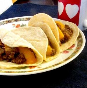 Bean Tacos for breakfast!