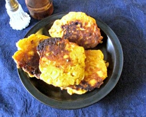 Parsnip Fritters - a perfect way to use up that extra parsnip (or other vegetable) as a special side dish!