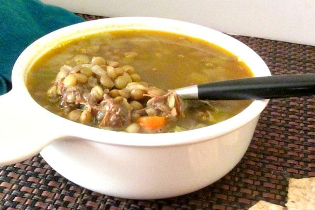 Lentil Soup with Pulled Pork