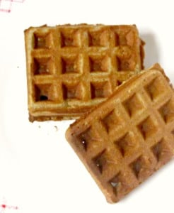 Orange cardamom waffles - gluten free, corn free, with a mild tang from buckwheat complementing the sweetness of orange juice.