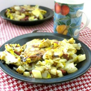 Use the last of the roast (ham, beef, whatever) to make hash, then stretch it with eggs - a classic and delicious way to use leftover meat.