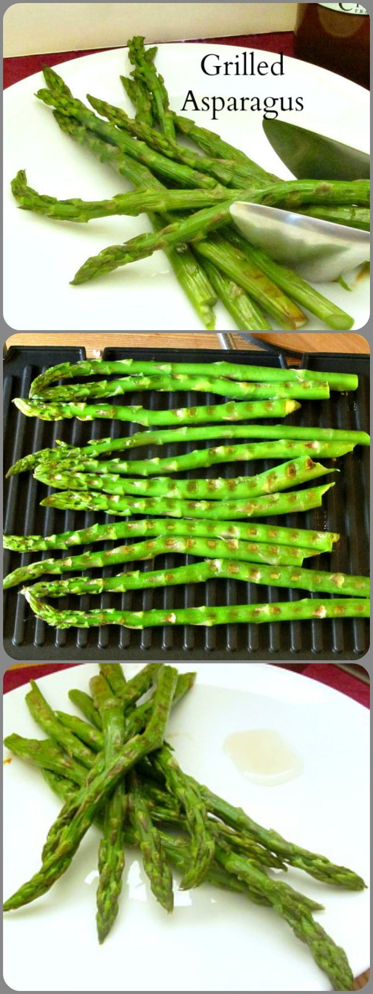 Grilled asparagus, with or without sauce or other seasoning - a simple and delicious method for cooking this lovely Springtime vegetable!