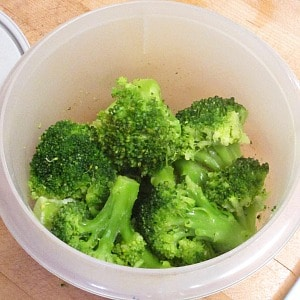 Marinated Broccoli - so simple it's barely a recipe, but a tasty, and useful way to prepare leftover or frozen vegetables.