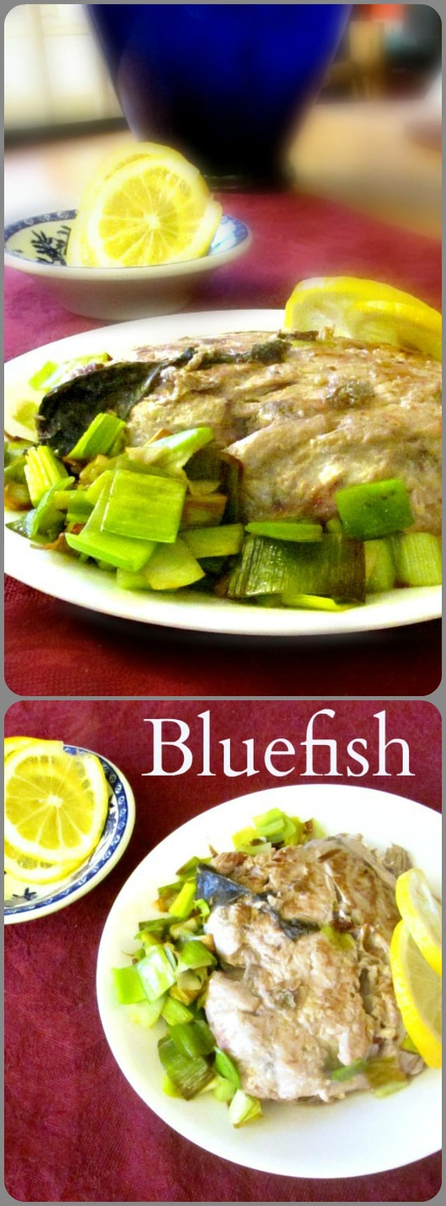 Fresh, wild caught, richly flavored bluefish - a local treat here on the East Coast. A basic recipe for it, that can be adapted to other fish as needed.