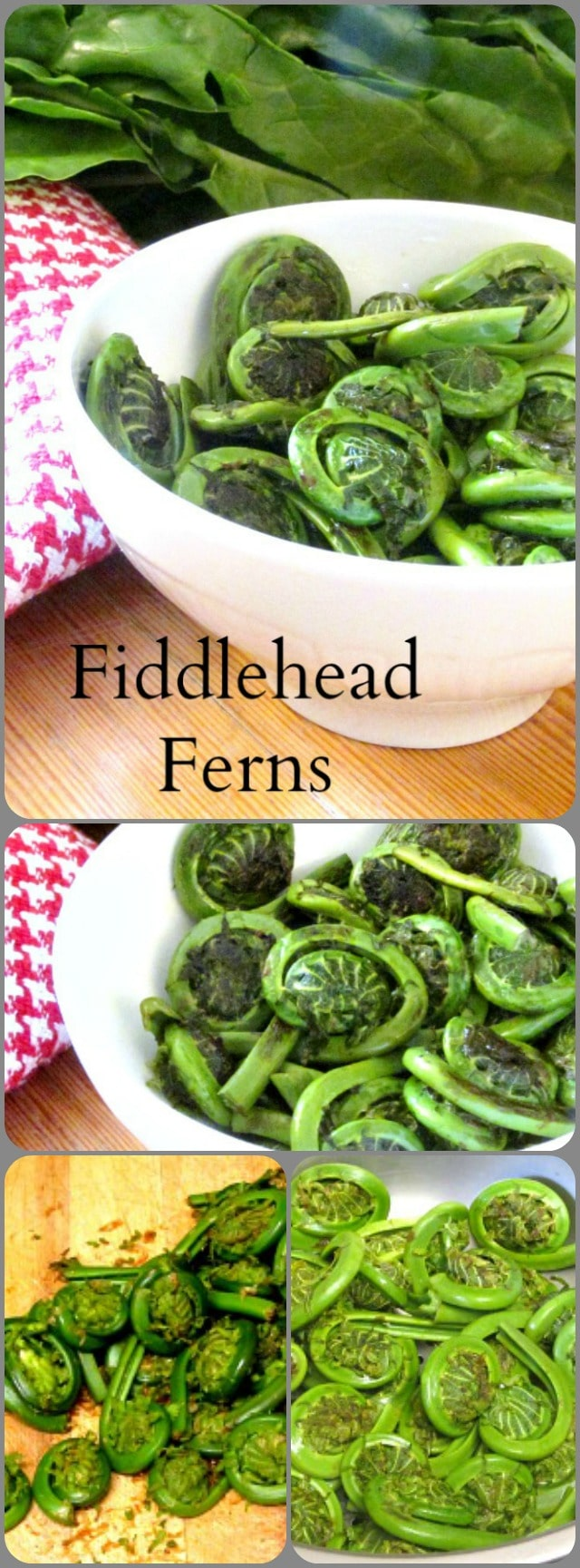 Fiddleheads - the edible and delicious unopened fronds of a wild fern. Harvested for a few short weeks in late Spring, they are sold in farmer's markets.