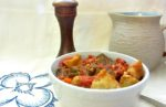 Fast and easy, a simple stripped down pressure cooker beef stew - using pre-browned beef cubes - is a wonderful weeknight dinner!