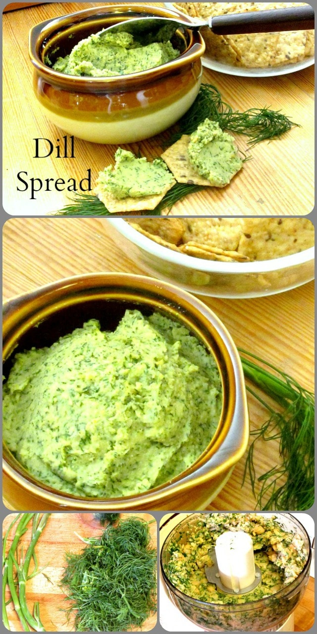 A dill bean spread - not really hummus, though used in many of the same ways - to serve on crackers alongside a salad or soup, or as an appetizer.