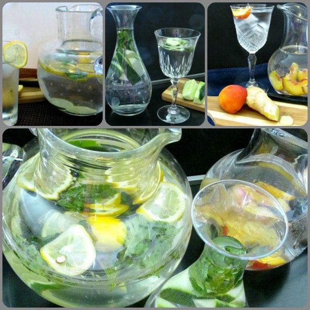 A cool pitcher of flavorful infused water, sugarfree, delicious, and refreshing! Drink with a meal or throughout the day.