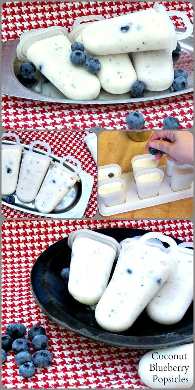 Dairy free but creamy, sugar free but sweet, these coconut blueberry sugarfree popsicles make a delightfully icy treat on a hot day.