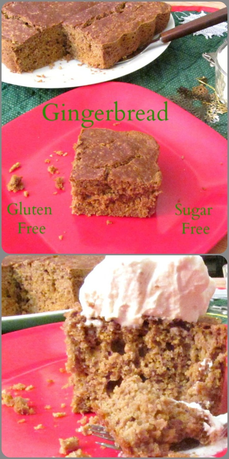 Gluten free gingerbread that even I can eat, as it is also whole grain, and free of added sugar! And still definitely gingerbread...