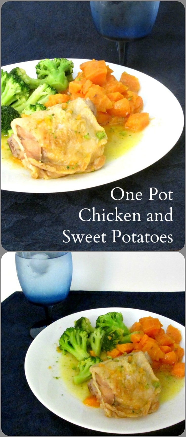 Make this fast one pot meal of chicken, sweet potatoes and vegetables! A delicious easy dinner!